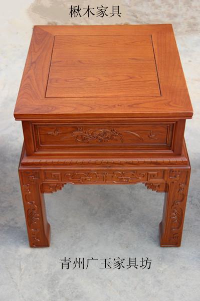楸木家具-方桌